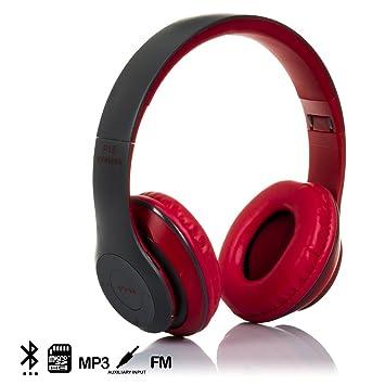Silica DMX016RED DMX016RED - Cascos Bluetooth 42 con Radio FM incorporada y Lector de Micro SD