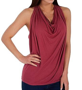 9d683963 Amazon.com: Michael Stars Women's Jersey Lycra Draped Halter: Clothing