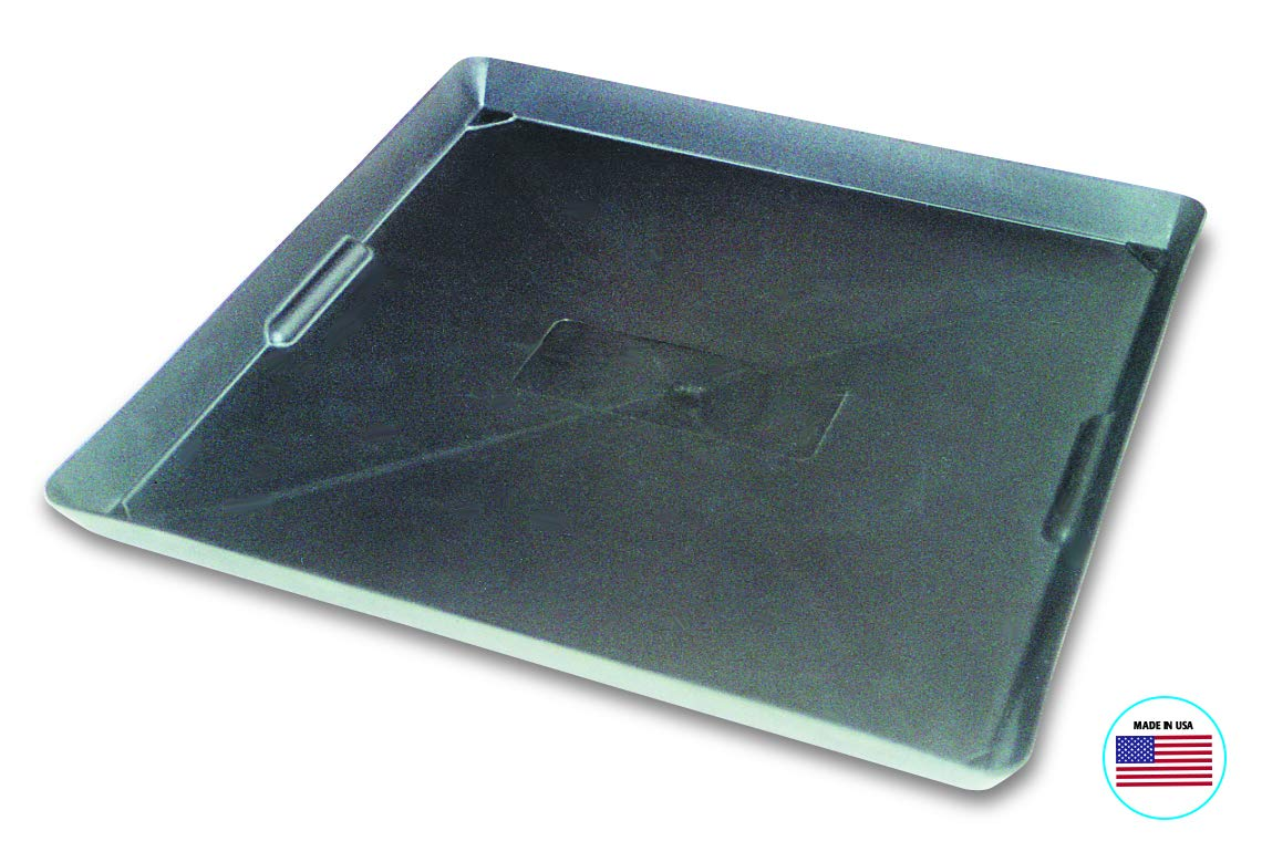 WirthCo 40092 Funnel King Drip Tray - Black 22'' x 22''x 1.5'', Pack of 1