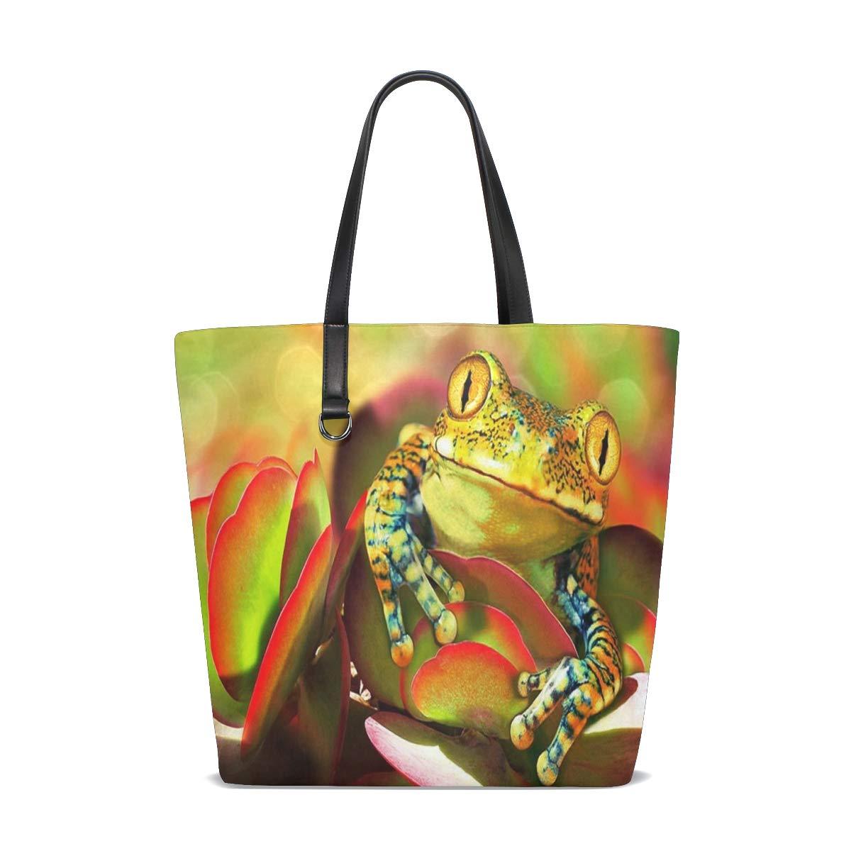 Amazon.com | Frogs-Colorfu Tote Bag Purse Handbag Womens Gym ...
