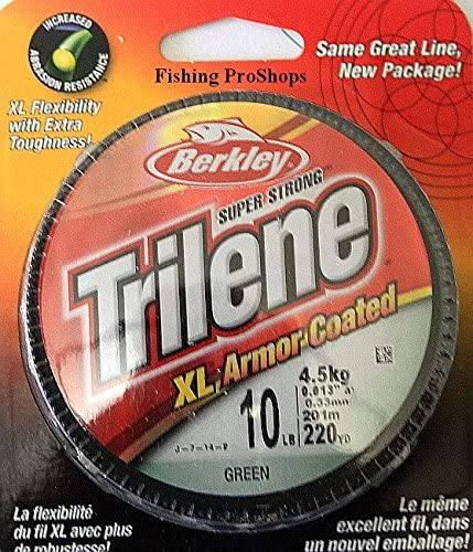 220 Yards Test Green XL Armor Coated Mono Line Berkley Trilene 10 lb