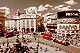 London Vintage Piccadilly Circus Sepia Maxi PAPER Poster Measures 36