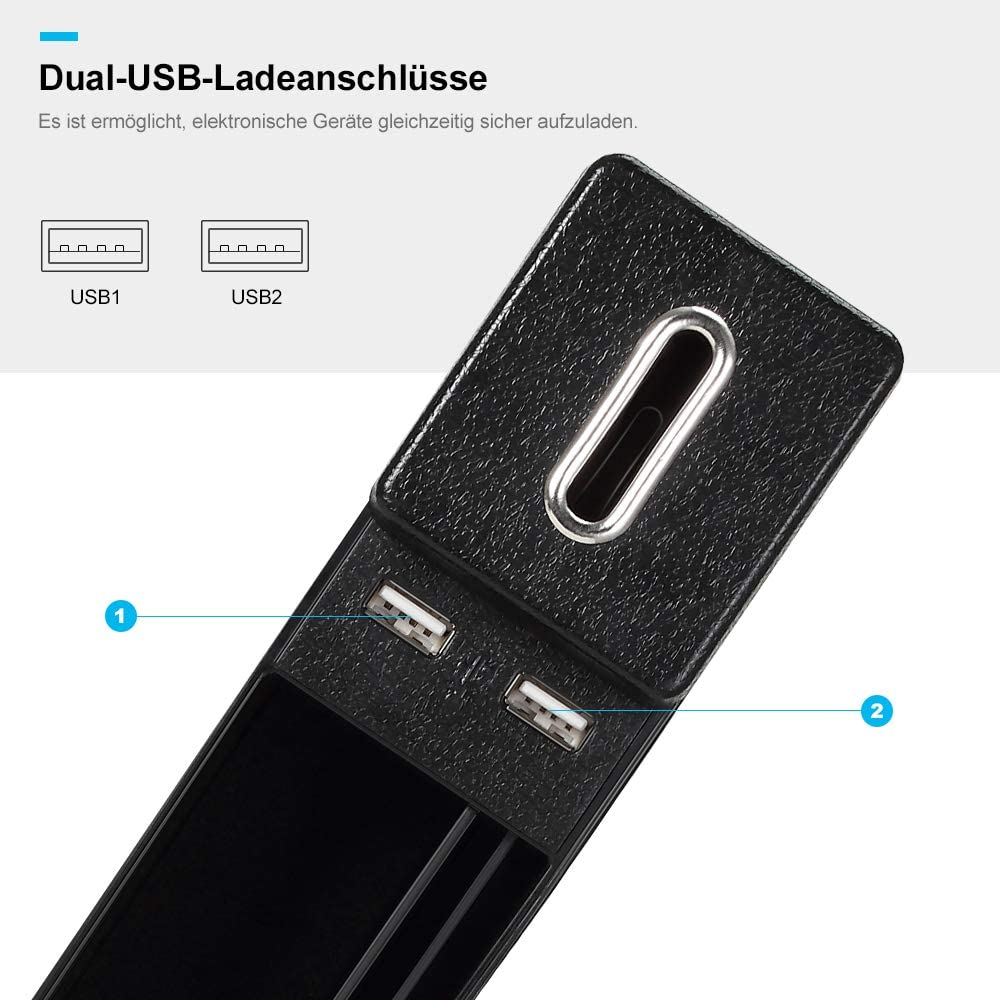 Jevogh GK08 Poche de Rangement pour Voiture avec 2 Ports USB