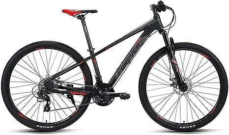 QZ Bicicleta de montaña, Off-Road Bike, 27 de Velocidad, Doble absorción de Choque de 29 Pulgadas de diámetro de Ruedas, Frenos de Disco, Neumáticos Grandes 6-11 (Color : A): Amazon.es: Deportes y