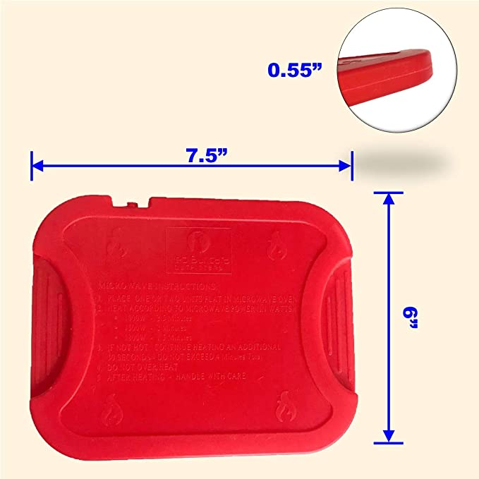 293a26660504 Red Suricata Reusable Hot Packs for Food - Set of 2 - Slim Thin Heat Packs  for Lunch Box/Lunch Bag/Cooler (Red)