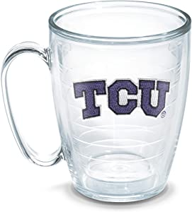 Tervis Texas Christian University Emblem Individual Mug, 16 oz, Clear