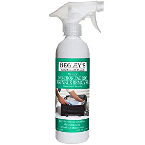 Begley's Best Earth Responsible Natural No-Iron Fabric Wrinkle Release, Static Cling Remover, Plant-Based Formula, Refreshing Citrus Scent - USDA Certified Biobased Product, 16 oz
