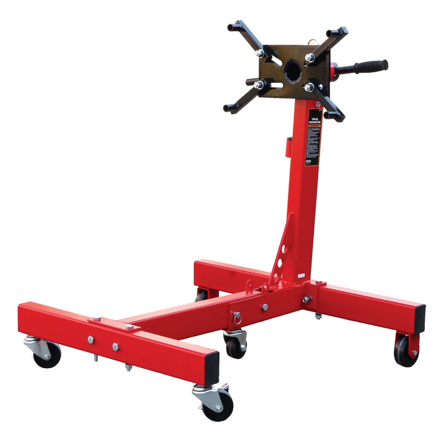 Torin Big Red Steel Rotating Engine Stand with Foldable Frame: 3/4 Ton (1,500 lb) Capacity by Torin