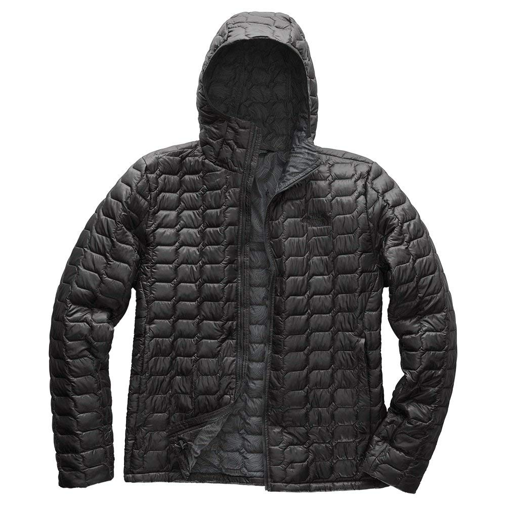 The North Face Men's Thermoball Hoodie - Asphalt Grey & Asphalt Grey Line Ripstop Print - XL