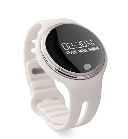 Smart Watch, Amgaze Bluetooth Sync Watch Waterproof smartwatch Touch Screen Smart Wrist Fitness Bracelet For Android and IOS (White)