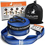 GONE ARE THE DAYS OF SHORT, WEAK, & HARD TO SET UP HAMMOCK STRAPS! GET YOUR CAMPING HAMMOCK READY! THE BEST PARACHUTE HAMMOCK STRAP IS FINALLY HERE MalloMe Hammock Tree Straps XL Set | 2 Free Snagless Carabiners Enjoy the Great Outdoors Reclined ...