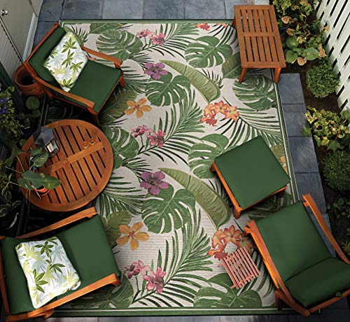Couristan Dolce Flowering Fern Indoor/Outdoor Area Rug, 4' x 5'10