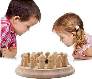 AMOYER Los niños de Madera de Partido Memory Stick Juego de ajedrez para niños Juguetes de Aprendizaje temprano Juguete Educativo de Madera de Juguete Juego de Memoria diversión del Color