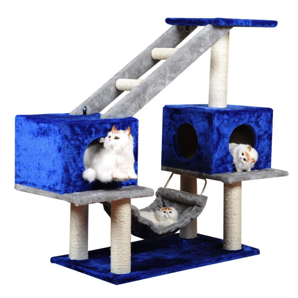 Leizhi Cat Tree, Grande Multi-Strato sisal Graffi Post Climbing Tower Frame attività Centro mobili, Amaca Letto e Pet Toy Ball