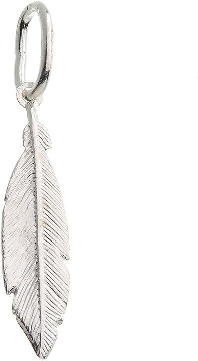 Anhänger Feder, klein, Kettenanhänger echt 925 Silber