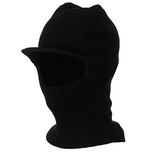 a752f68f27b Visor One Hole Ski Mask - Black at Amazon Men s Clothing store  Balaclavas  Headwear