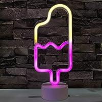 LED Popsicle Neon Light Signs Neon Signs Bulbs Flash Neon Lights Decor-Flash Neon Lights Batterij/USB Aangedreven…