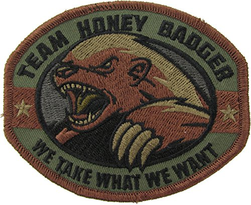 Extreme Sports Appliques (Mil-Spec Monkey Honey Badger Patch (Forest))