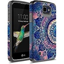 LG K4 Case, LG Optimus Zone 3 Case, LG Spree Case,LG Rebel LTE Case, kaesar Slim Hybrid Dual Layer Armor Defender Protective Cover for LG Optimus Zone 3 / LG K4 / LG Spree / LG Rebel (Slim Mandala)