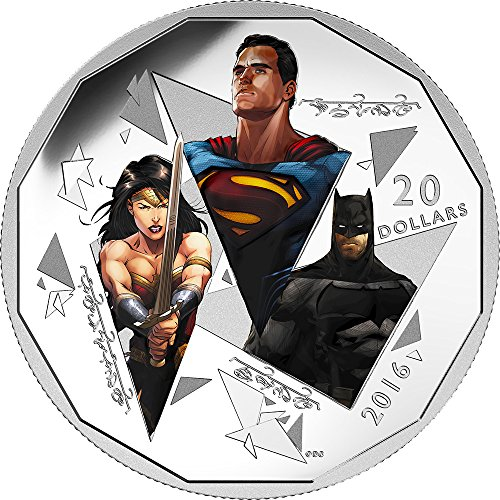2016 CA Batman V Superman Dawn Of Justic TRINITY e 1 Oz Silver Coin 20$ Canada 2016 31.83 Gr Proof