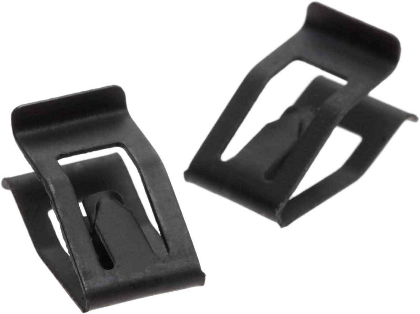 10pcs Console Avant Voiture Universel Dash Dashboard Auto Trim Retenue Black Metal Rivet Clip Fastener for Ford Mazda Audi Toyota Size : 10PCS