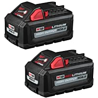 Milwaukee 48-11-1862 M18 18-Volt Lithium-Ion High Output 6.0Ah Battery Pack (2-Pack) (Non-Retail Packaging)