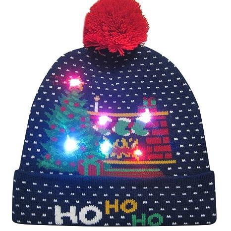 novità LED Light up Beanie Cappelli Berretto di Maglia per Uomo Donna Ragazzi  Ragazze Cappello di 6b46dc68d286