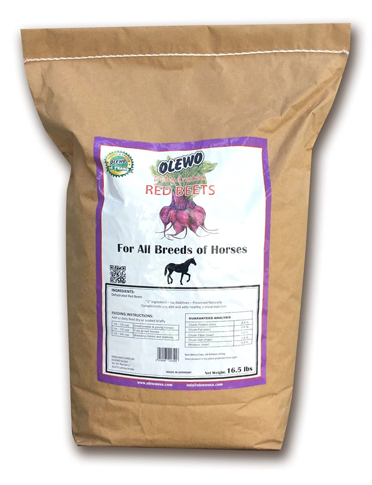 Olewo Red Beets Vitality Horse Food Supplement FBA_24355 - 1