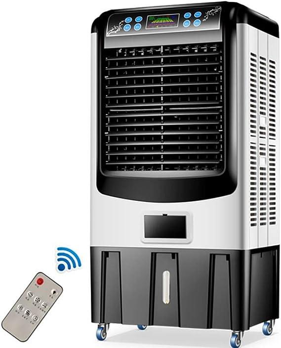 FFENGG Climatizador evaporativo con Mando a Distancia, 260W, oscilante, 3 Modos y 3 velocidades, Temporizador, humidificador de Aire, 2 Cajas Hielo, depósito de 50 l.: Amazon.es: Deportes y aire libre