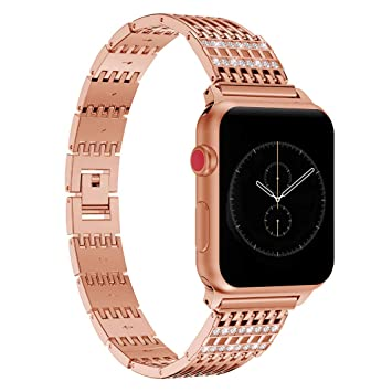 Amazon.com: Band Compatible Apple iWatch 40MM Series 4 Rose ...