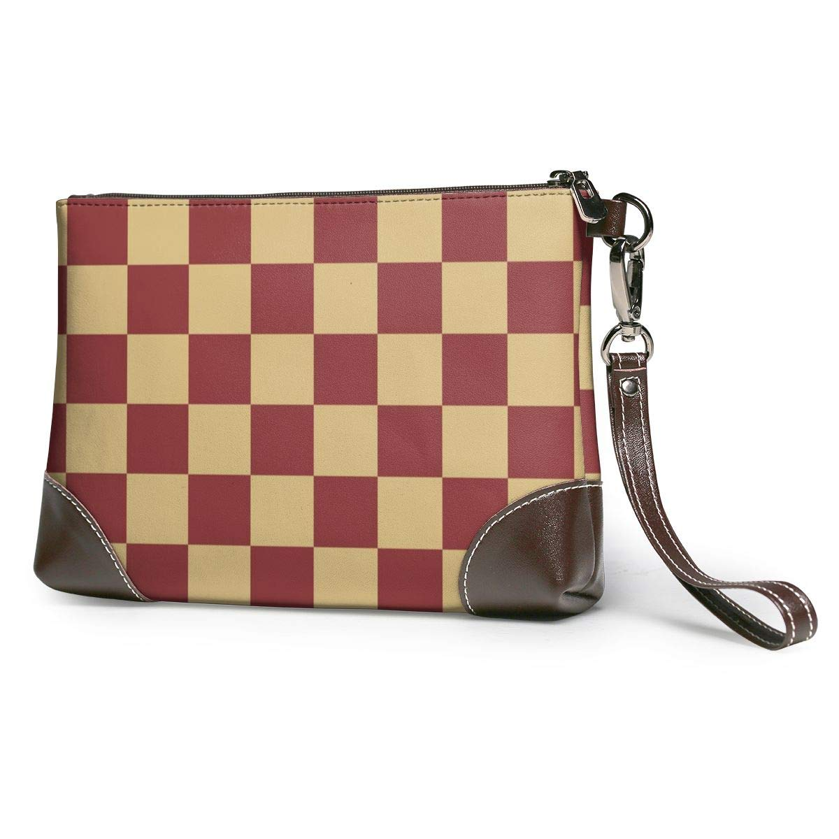 Red Brown Plaid Pattern...