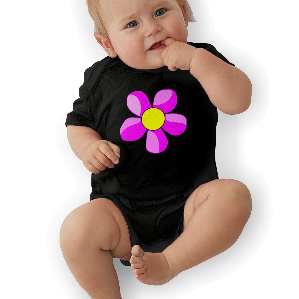 Baby Boys Rainbow Flower Wreath Vector Clip Art Short Sleeve Climbing Clothes Bodysuits Suit 6-24 Months