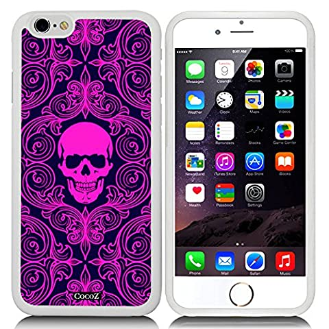 New Apple iPhone 6 s 4.7-inch CocoZ® Case Fashion personality skeleton skull TUP Material Case (White TPU& Fashion skull (White Ion Speaker)