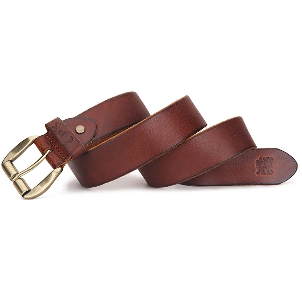 Mens Casual Genuine Cow Leather Dress Belt