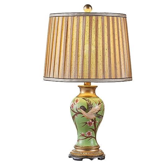 Mlimy Retro Pintado Dormitorio Tabla Retro lámpara de Mesa lámpara ...