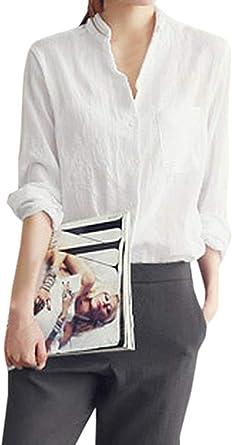 Camisas De Mujer Y Otoño Ocio Camisas Sueltas De Manga Larga ...