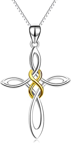 Mother's Day Celtic Knot Irish Love Knots Necklace Pendant  Silver