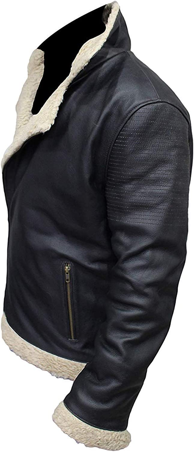 Mens Kingsman The Golden Circle Fur Shearling Brown Suede Leather Coat 2XS to 3XL