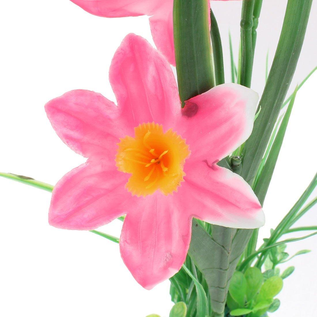 Amazon.com : eDealMax Planta de hierba Artificial acuario de plástico Flor Paisaje Rosa Verde : Pet Supplies