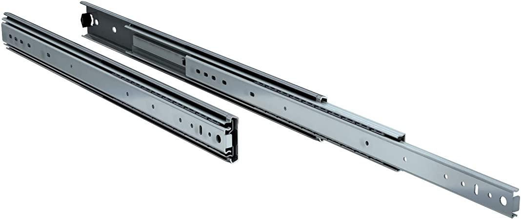 """Height: 3/"""" Travel: 30/"""" Closed Length: 30/"""" Lot of 2 Ball Bearing Drawer Slides"""