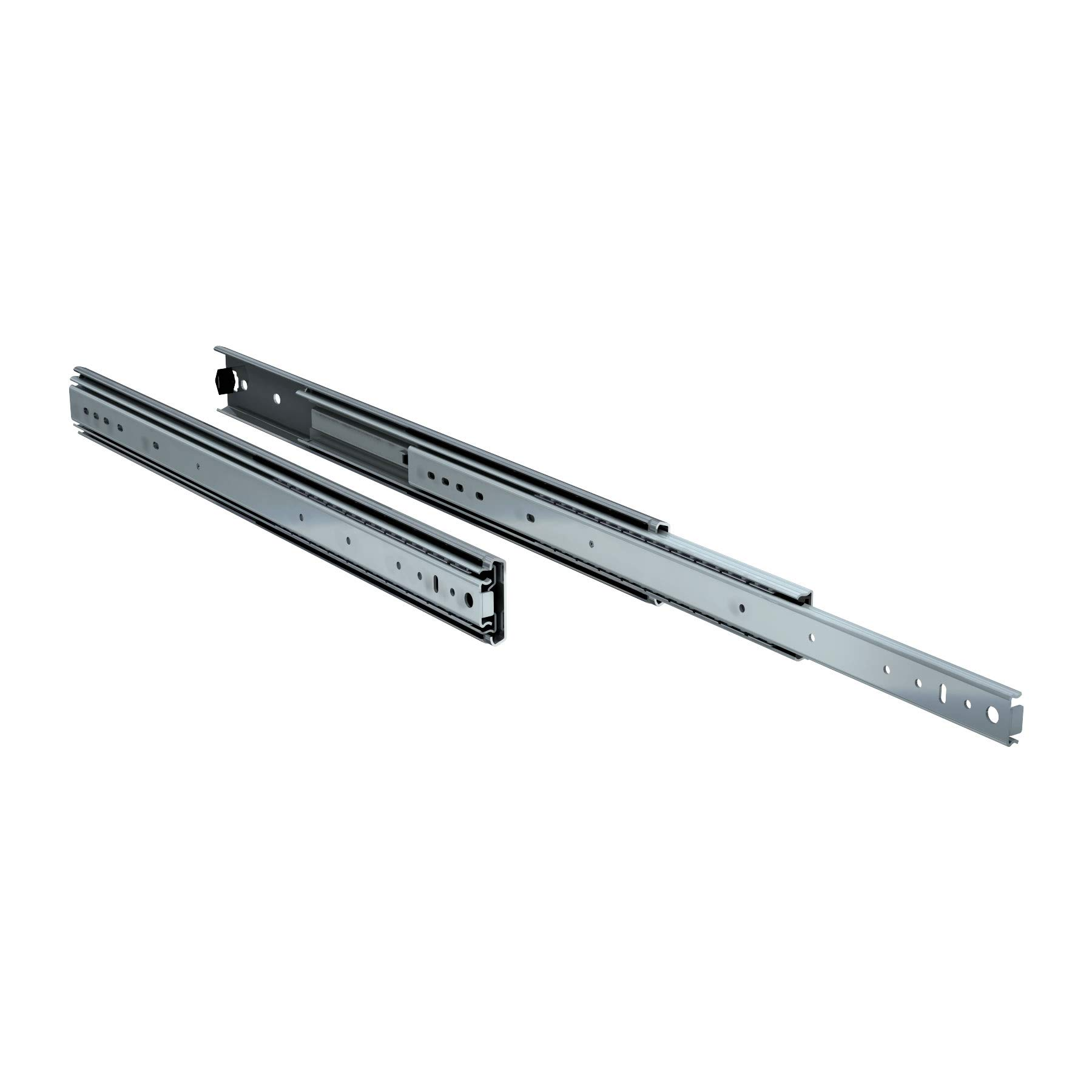 TCH Hardware 24'' Heavy Duty 250 lb Drawer Slides - 2-1/4'' x 3/4'' Wide Steel Full Extension Over Travel