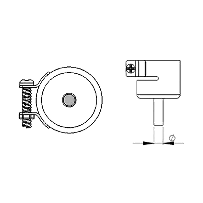 AOYUE [1124] Buse à Air Chaud ronde Ø 2.5mm - Station de Soudage