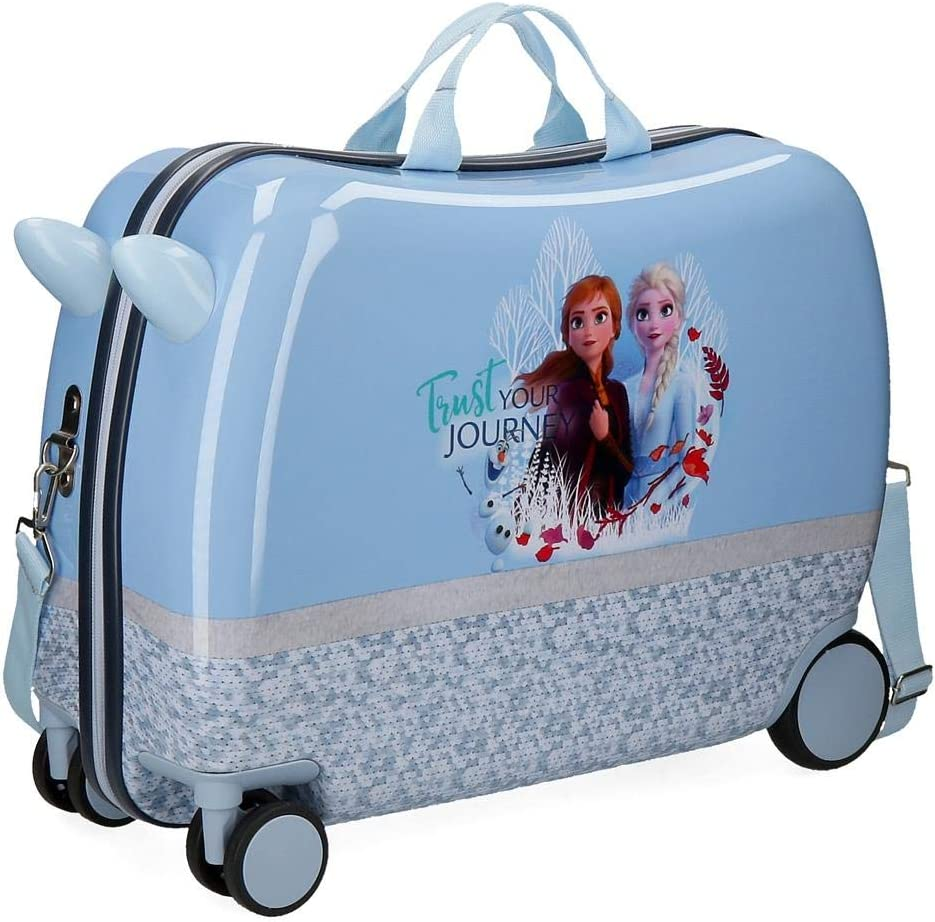 Disney Maleta Infantil Frozen Spirits of Nature con Ruedas Multidireccionales Azul