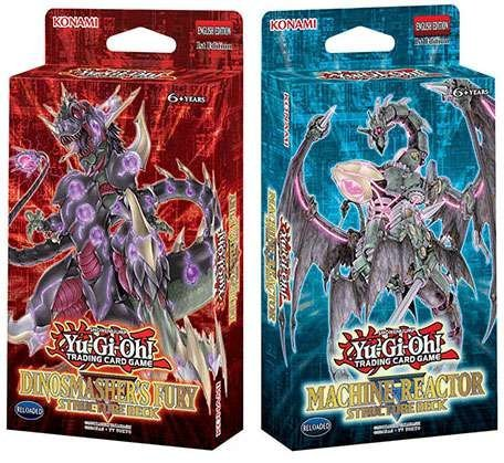 Yu-Gi-Oh! Machine Reactor and Dinosmasher's Fury Structure Decks
