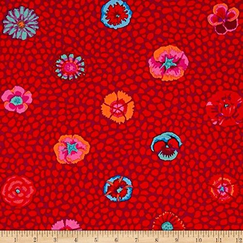 FreeSpirit Fabrics Kaffe Fassett Guinea Flower Fabric by The Yard, Red