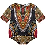 Shenbolen Kids African Dashiki Print Jumpsuits Piece Pants Clothing (XX-Large, A)