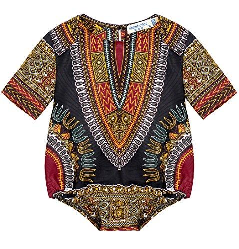Shenbolen Kids African Dashiki Print Jumpsuits Piece Pants Clothing (X-Small, A) by Shenbolen
