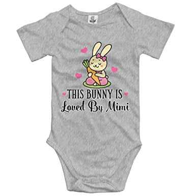 9e53674a6773 Yuer Ley This Bunny is Loved by Mimi Infant Bodysuit Onesie Funny Outfit  Shower Gift