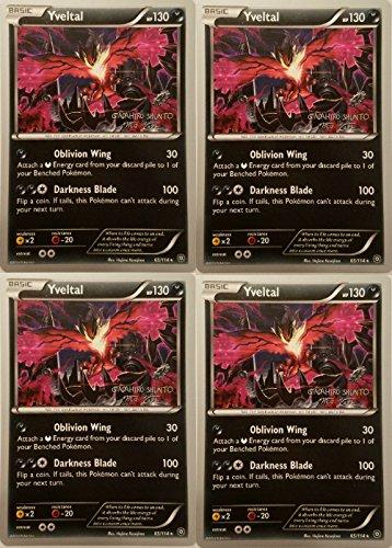Pokemon Card - Yveltal 65/114 - World Championship 2016 - x4 [Playset]