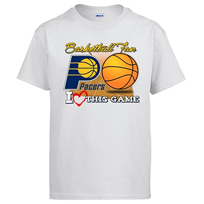 Camiseta NBA Indiana Pacers Baloncesto Basketball fan I Love This Game - Blanco, 12-14 años: Amazon.es: Ropa y accesorios